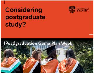 考虑读研?悉尼大学研究生课程体验周不要错过!